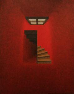 Un pas, un autre - William Mathieu - Huile sur toile - 2011 - 146 x 116 cm