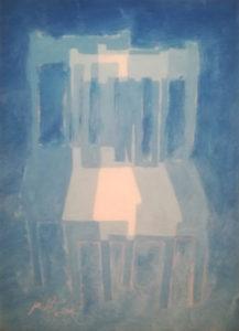 Triple vue, William Mathieu, Huile sur toile, 2018, 33 x 24 cm