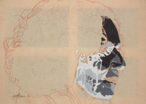 Anna De Sandre - William Mathieu - Huile et crayon sur toile - 2015 - 50 x 70 cm