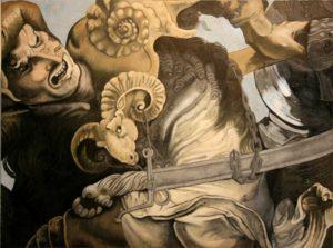 Etude de la Bataille d'Anghiari d'après Léonard de Vinci - William Mathieu - Huile sur toile - 2010 - 54 x 73 cm