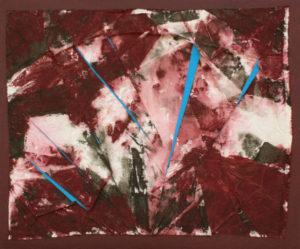Coupures bleues - William Mathieu - Acrylique et toile sur bois - 2014 - 65 x 78 cm