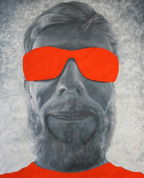 Selfie Yvan - William Mathieu - Huile sur toile - 2015 - 88 x 70 cm