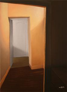 Au bout du couloir - William Mathieu - Huile sur toile - 2010 - 12F