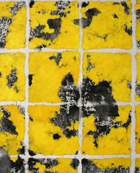 Questionnement Hantai - William Mathieu - Huile et acrylique sur toile - 2013 - 80 x 65 cm