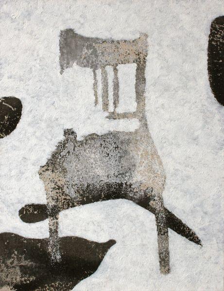 Chaise blanche - William Mathieu - Huile et acrylique sur toile - 2013 - 90 x 69 cm