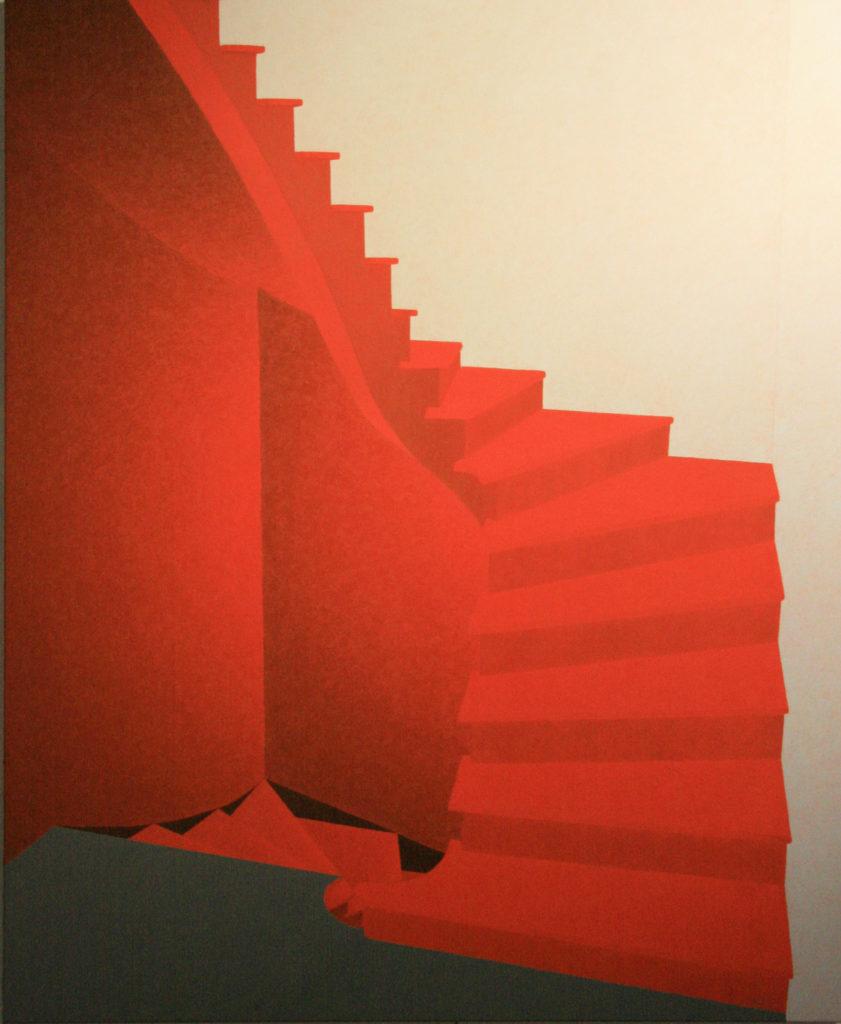 Palier - William Mathieu - Huile sur toile - 2011 - 162x160 cm