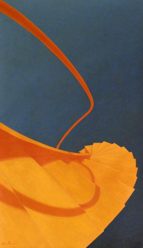 Icare - William Mathieu - Huile sur toile - 2012 - 81x46 cm