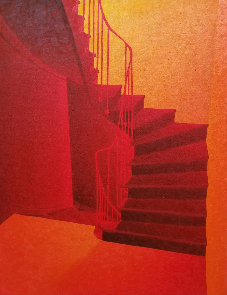 William Mathieu - Souvenirs-rouges - Huile sur toile - 2020 - 93x73